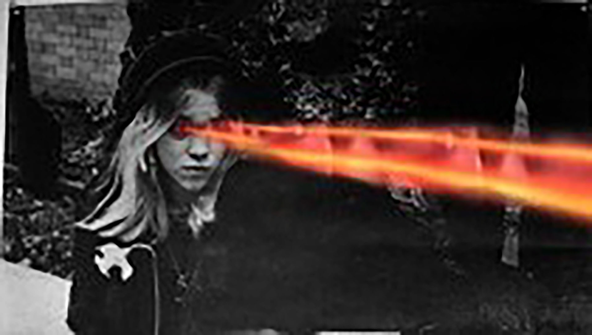 laser beams shooting out of girls eyes