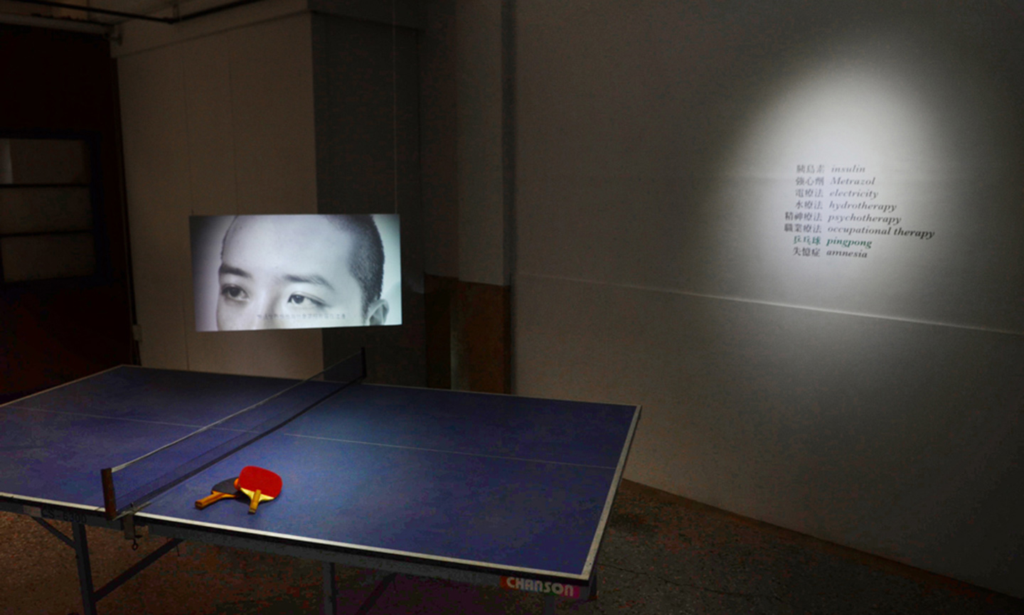 Ping pong table and video