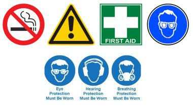 Examples of safety signs.