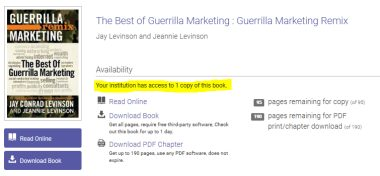 Some ProQuest ebooks only allow a limited number of users at the same time this is indicated in the record for the book