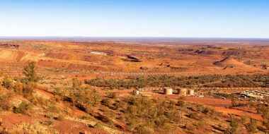 View over Pilbara region