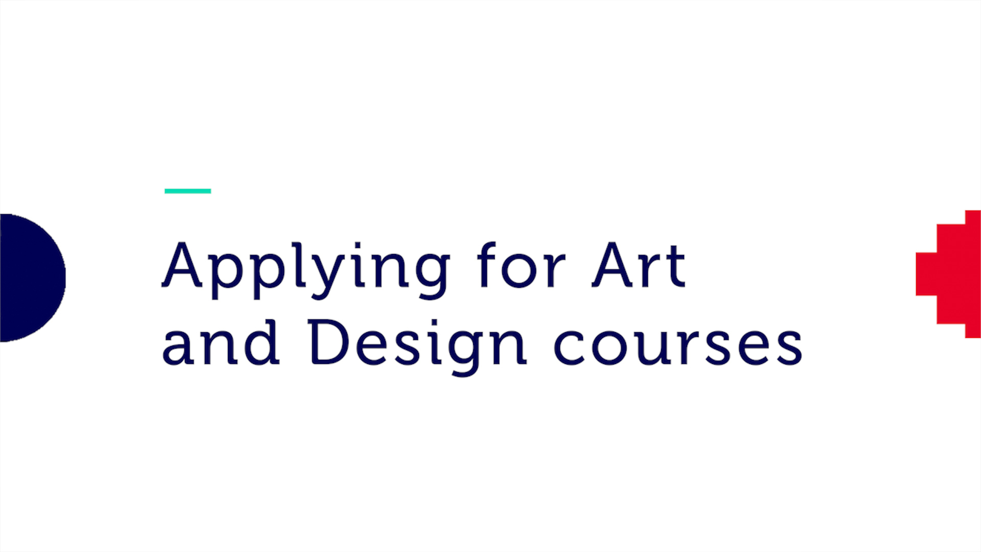 Applying for Art and Design courses