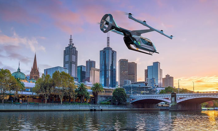 Along with Dallas and Los Angeles, Melbourne has been named as one of the sites for Uber Air trials starting in 2020. Photo: Uber/AAP