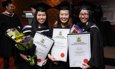 Students graduating in Singapore