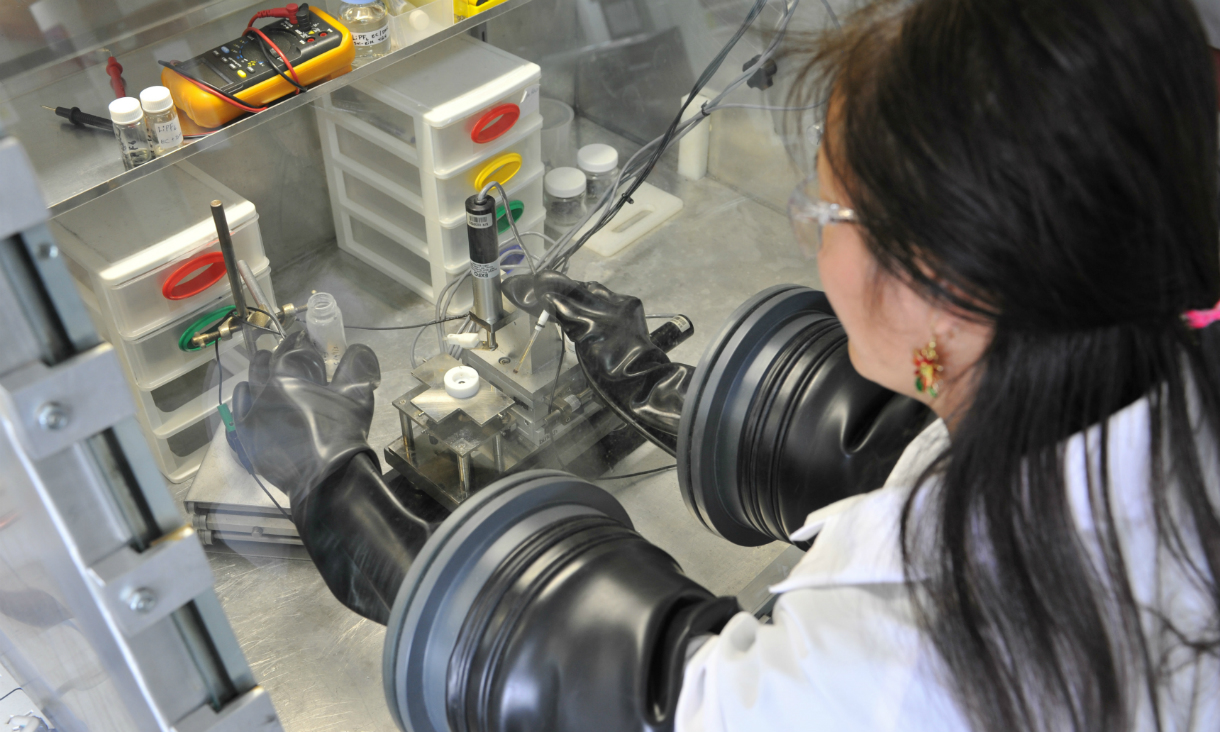 Female research scientist working at laboratory
