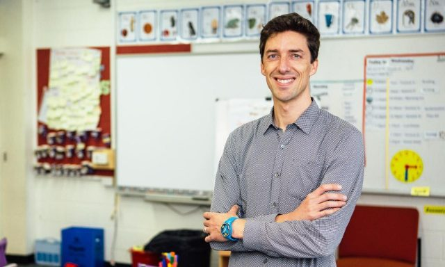 oliver harris rmit alumnus and primary school teacher