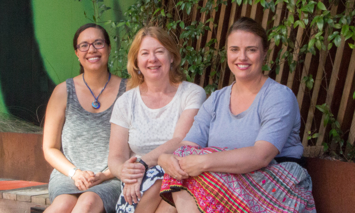 RMIT's Indigenous Studies team – Emily Poelina-Hunter, Dr Suzi Hutchings and Julia Hurst.
