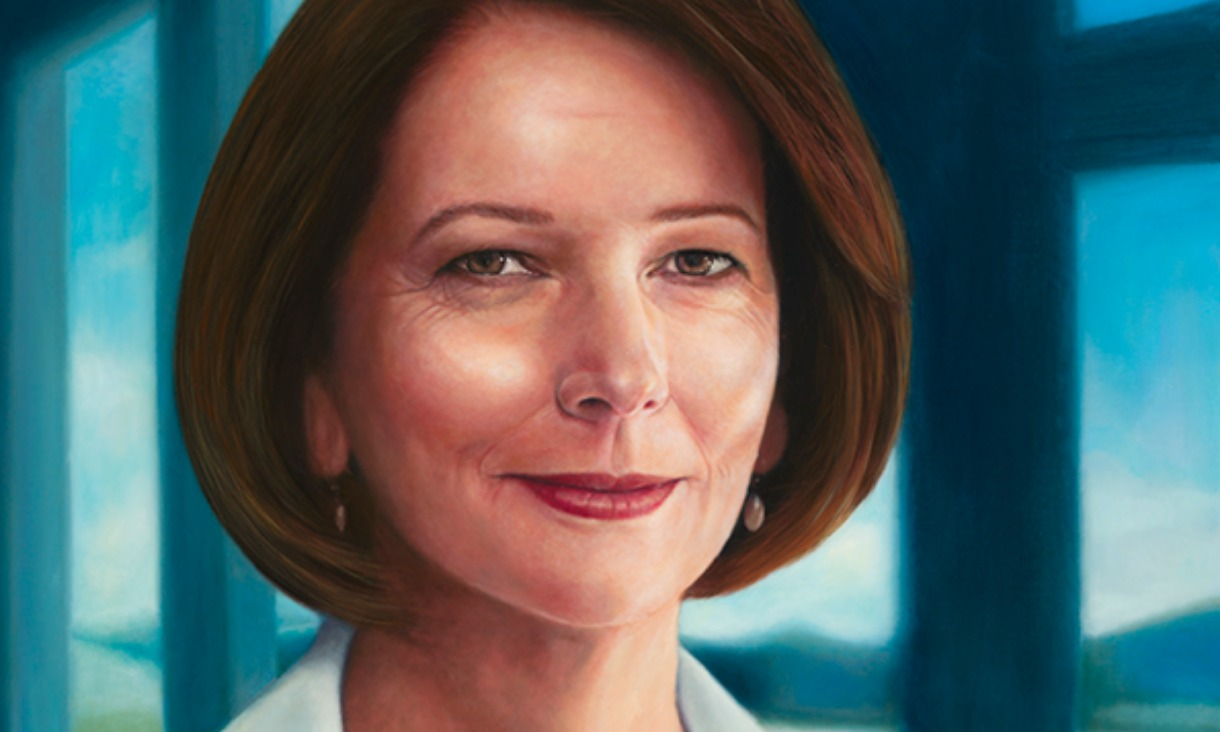 Vincent Fantauzzo (born 1977) The Hon. Julia Gillard AC, 2018, Historic Memorials Collection, Parliament House Art collection, Department of Parliamentary Services, Canberra, ACT.