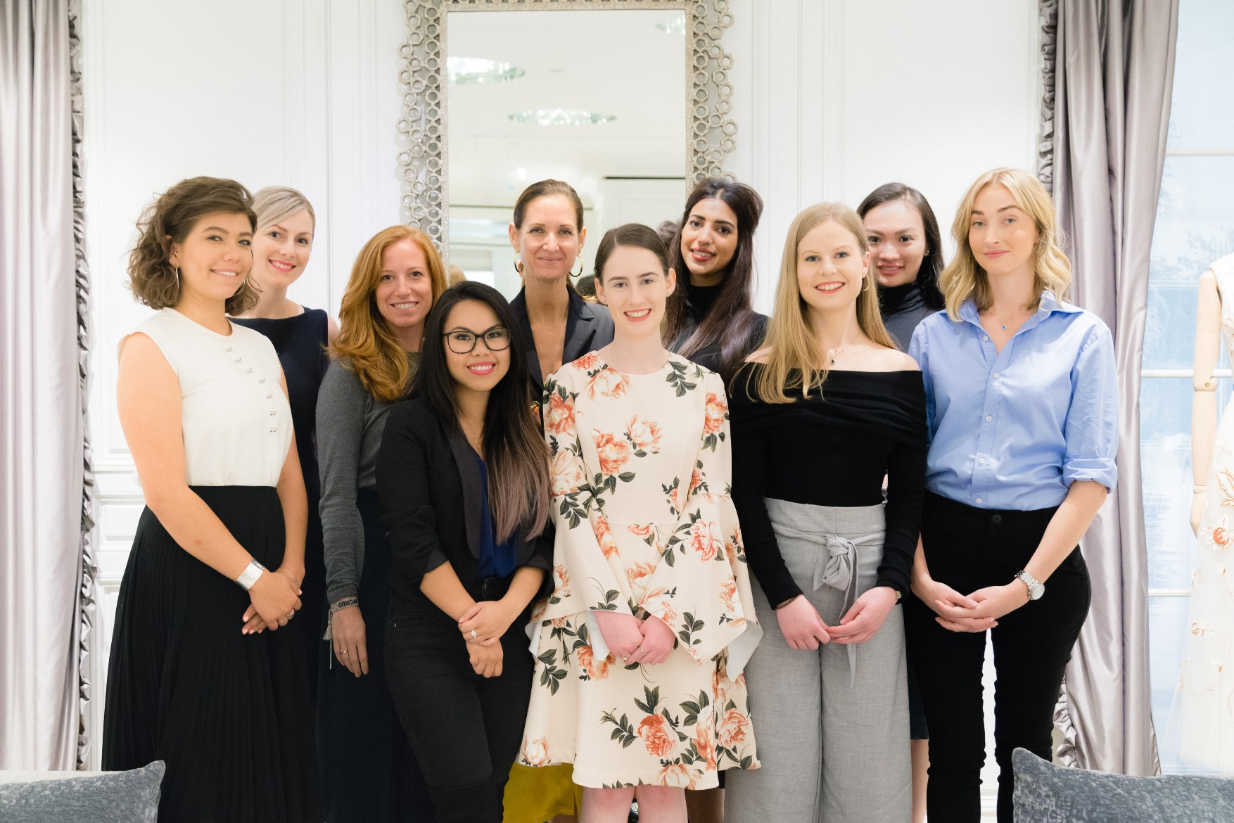 Students and mentors at Dior