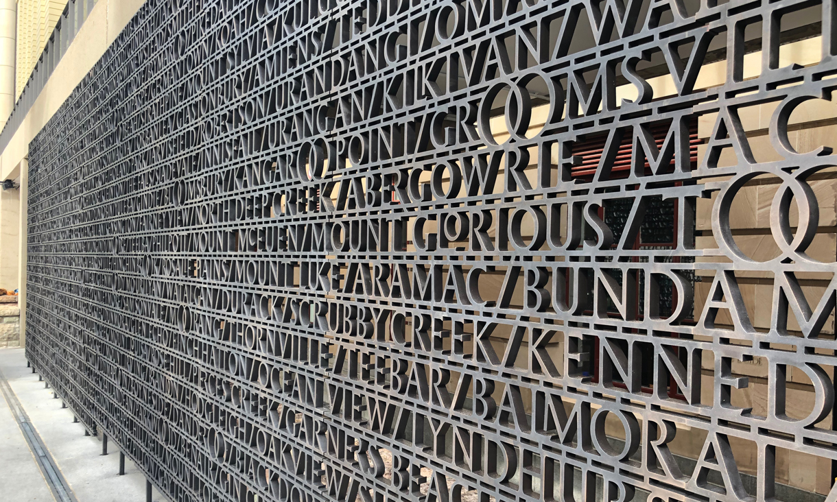 Image result for RMIT typographer's ANZAC Square project one for ages