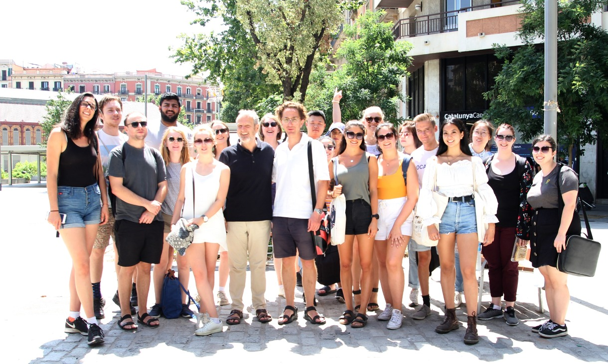 RMIT students on a tour of the Sant Antoni superblock with Salvador Rueda, Director of the Urban Ecology Agency of Barcelona