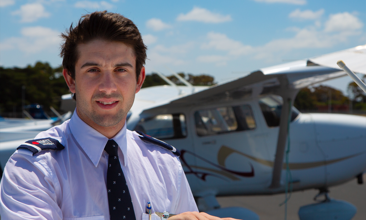 Bachelor of Applied Science (Aviation) graduand Zac Cattlin