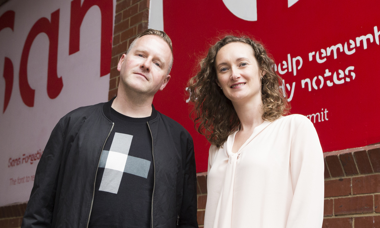 Two of the team who worked to develop, design and test  Sans Forgetica, RMIT's Stephen Banham and Dr Janneke Blijlevens.