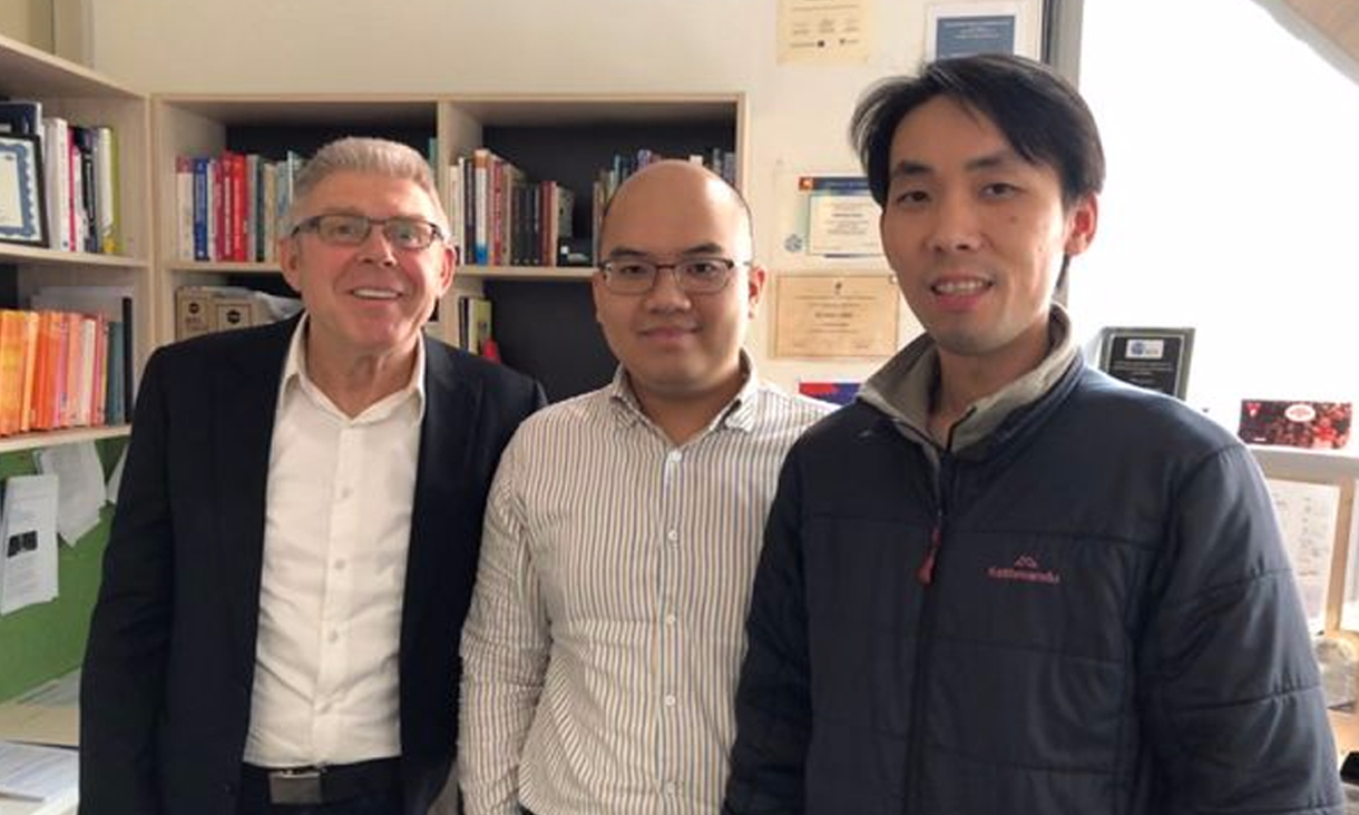 Professor Karlheinz Kautz (left), Dr Duy Dang-Pham (centre) and Dr Siddhi Pittayachawan (right) worked with an industry partner on the research project.