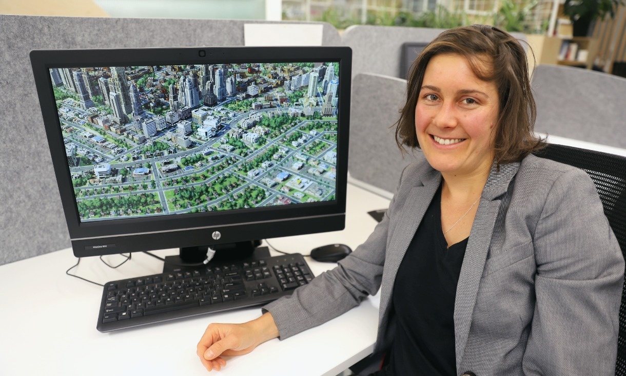 Dr Claire Boulange claims a childhood of playing SimCity inspired her to pursue a career in planning.