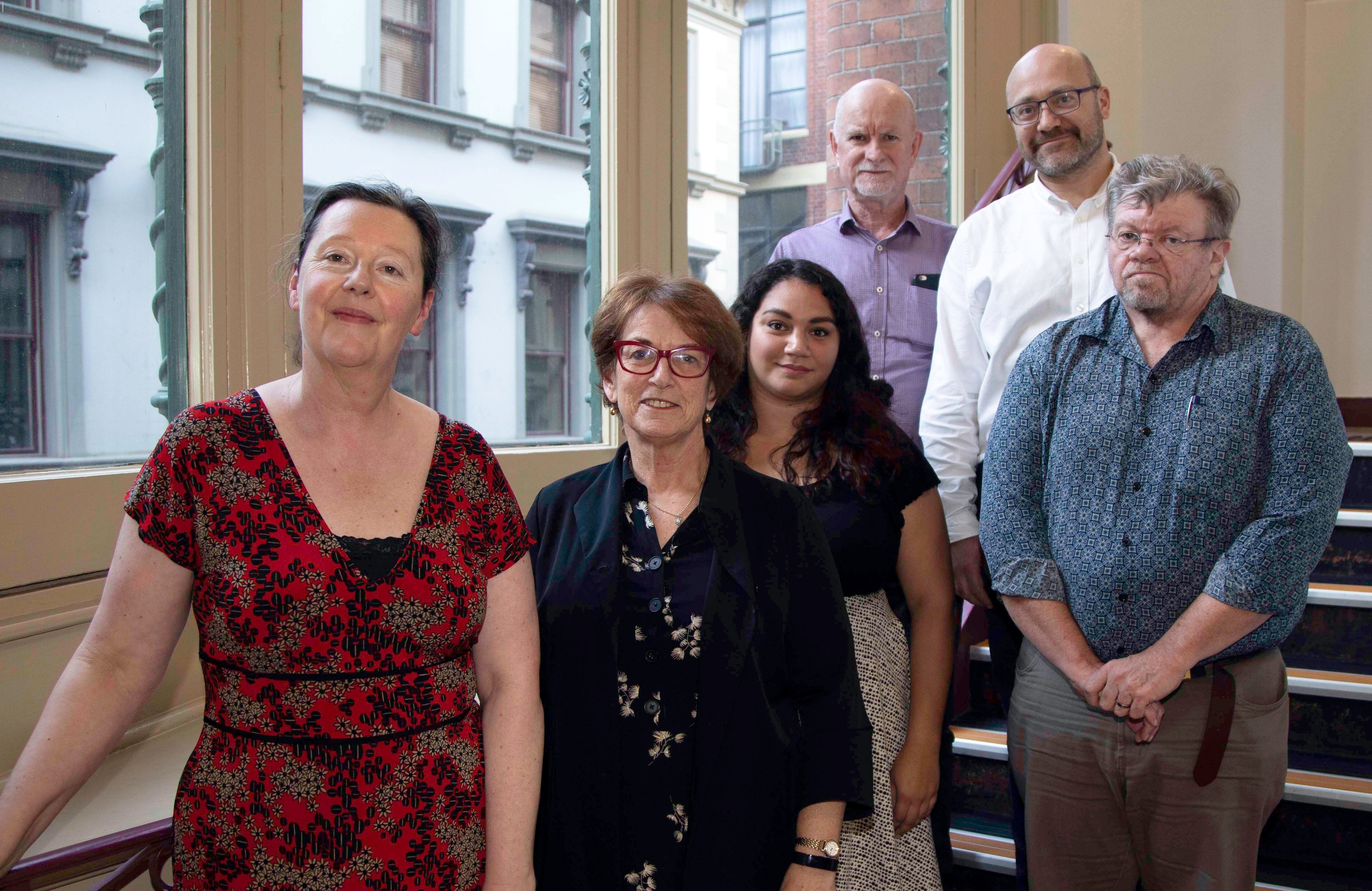 RMIT researchers and Woor Dungin staff involved in the project: Christa Momot, Bronwyn Naylor, Bianca Fazey (RMIT student), Brian Pitcher, Stan Winford, Dennis Batty