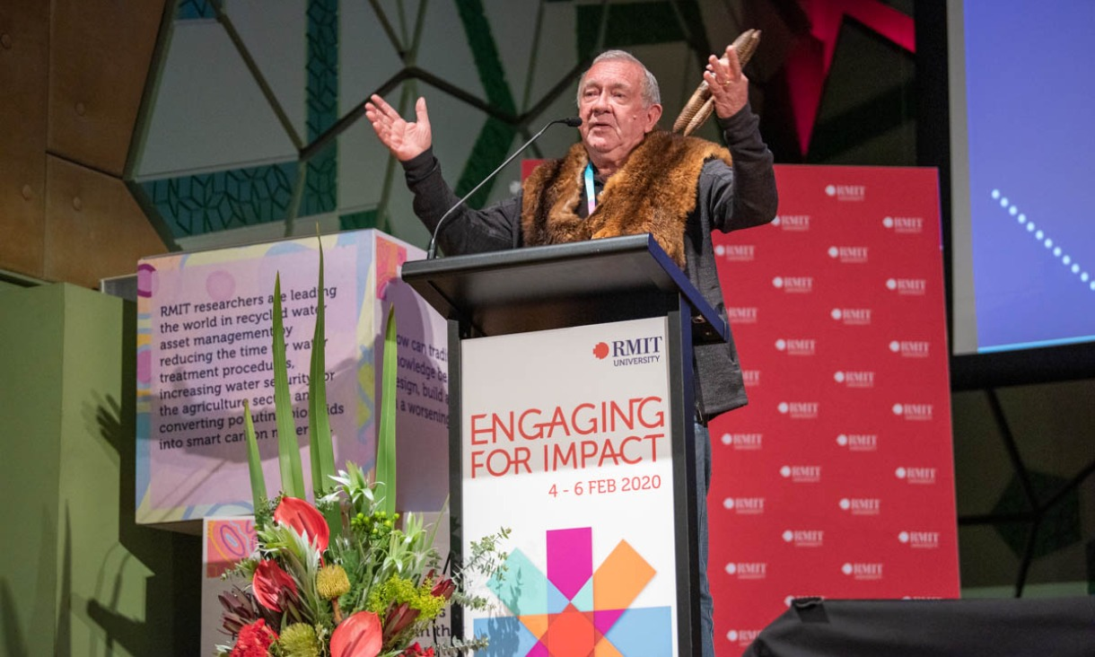 The Welcome to Country was done by Wurundjeri Elder Ron Jones