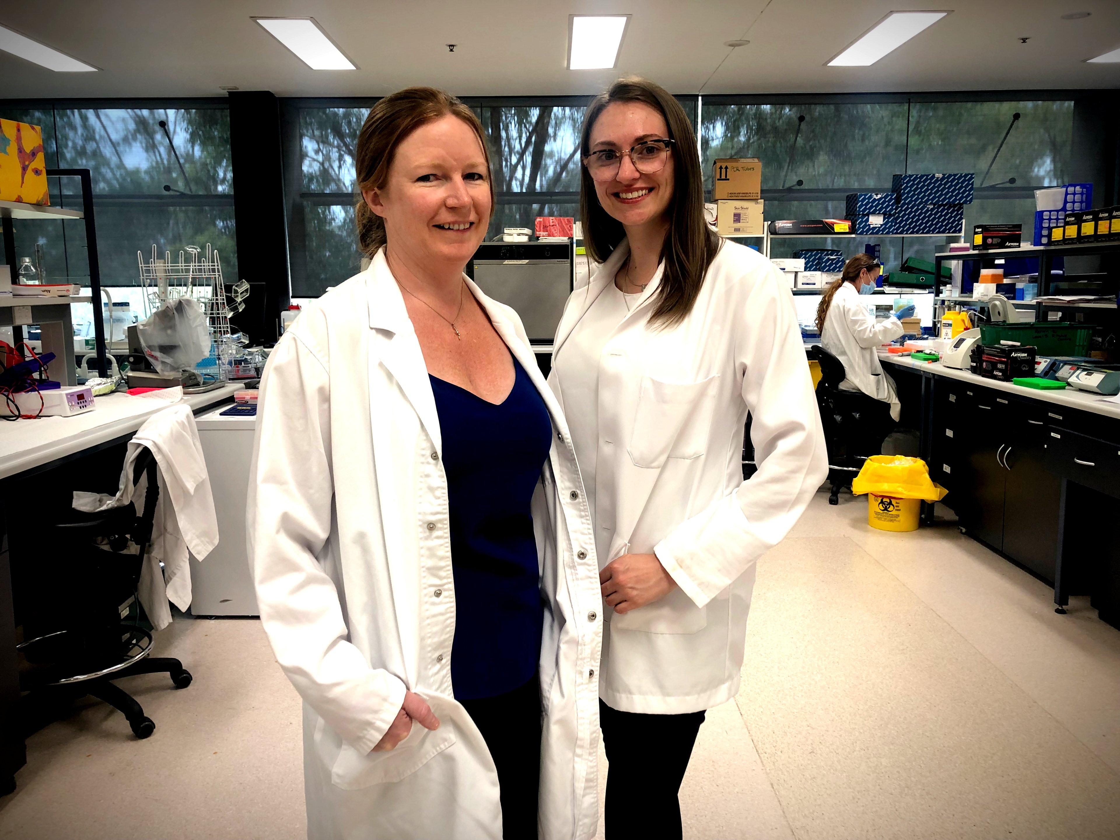L-R: Associate Professor Sarah Spencer and Dr Simone De Luca