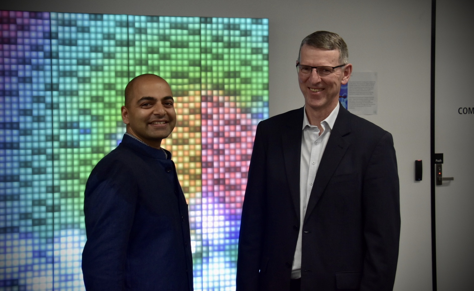 Director of the new Health Transformation Lab Vishaal Kishore and Brendan Lovelock, Health Practice Lead at Cisco Systems.