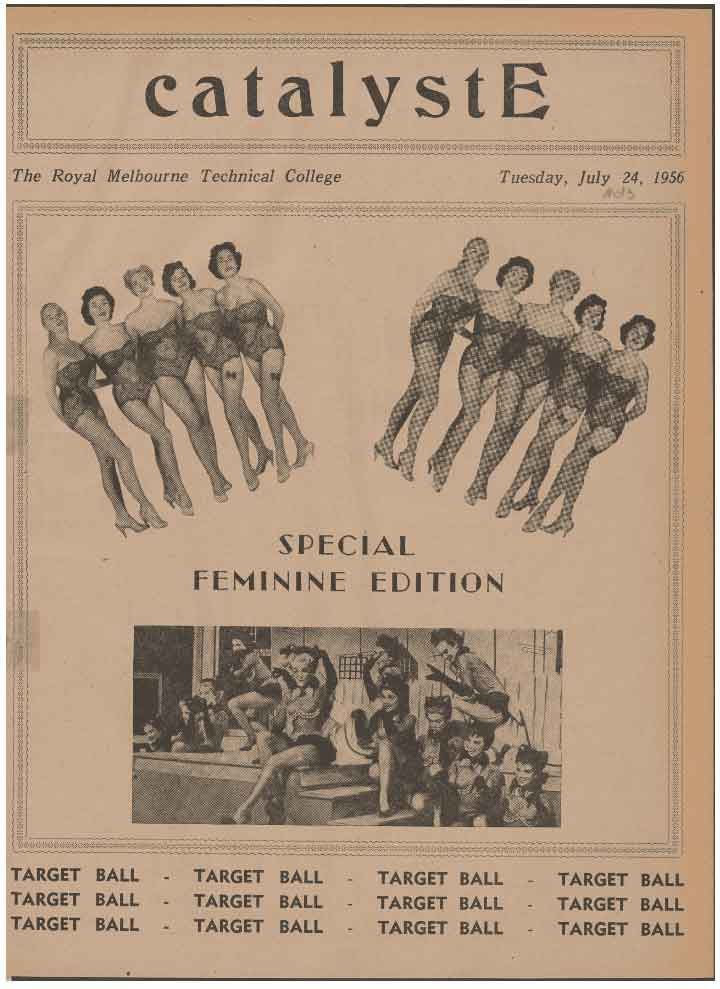 Catalyst. 24 July 1956, Volume 11, Issue 13, CatalystE: Special feminine edition.