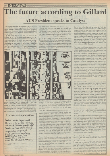 Catalyst. 27 May 1983, Volume 39, Issue 9.