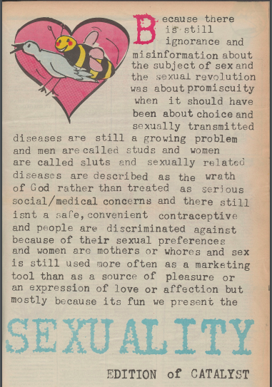 Catalyst. 2 June 1986, Volume 42, Issue 8, Sexuality edition.