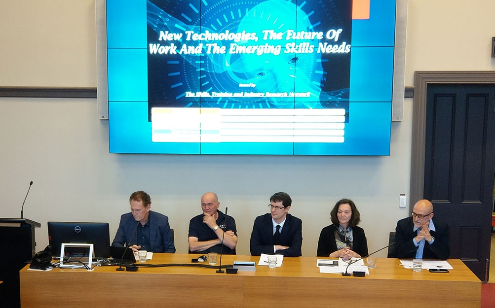 Image of panel at an event