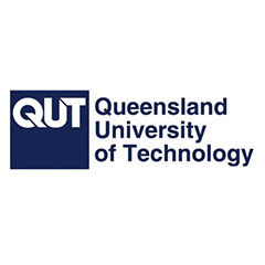 Queensland University of Technology (QUT) logo.
