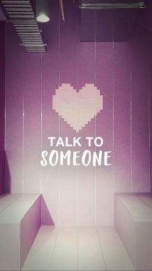 'Talk to someone' wallpaper