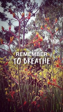 'Remember to breathe' wallpaper