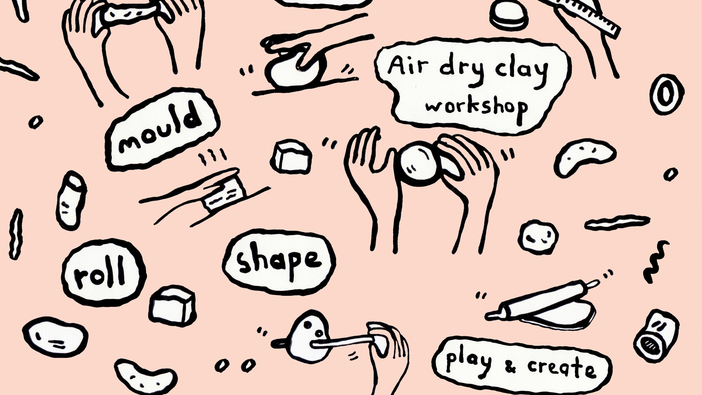 Air dry clay workshop event image