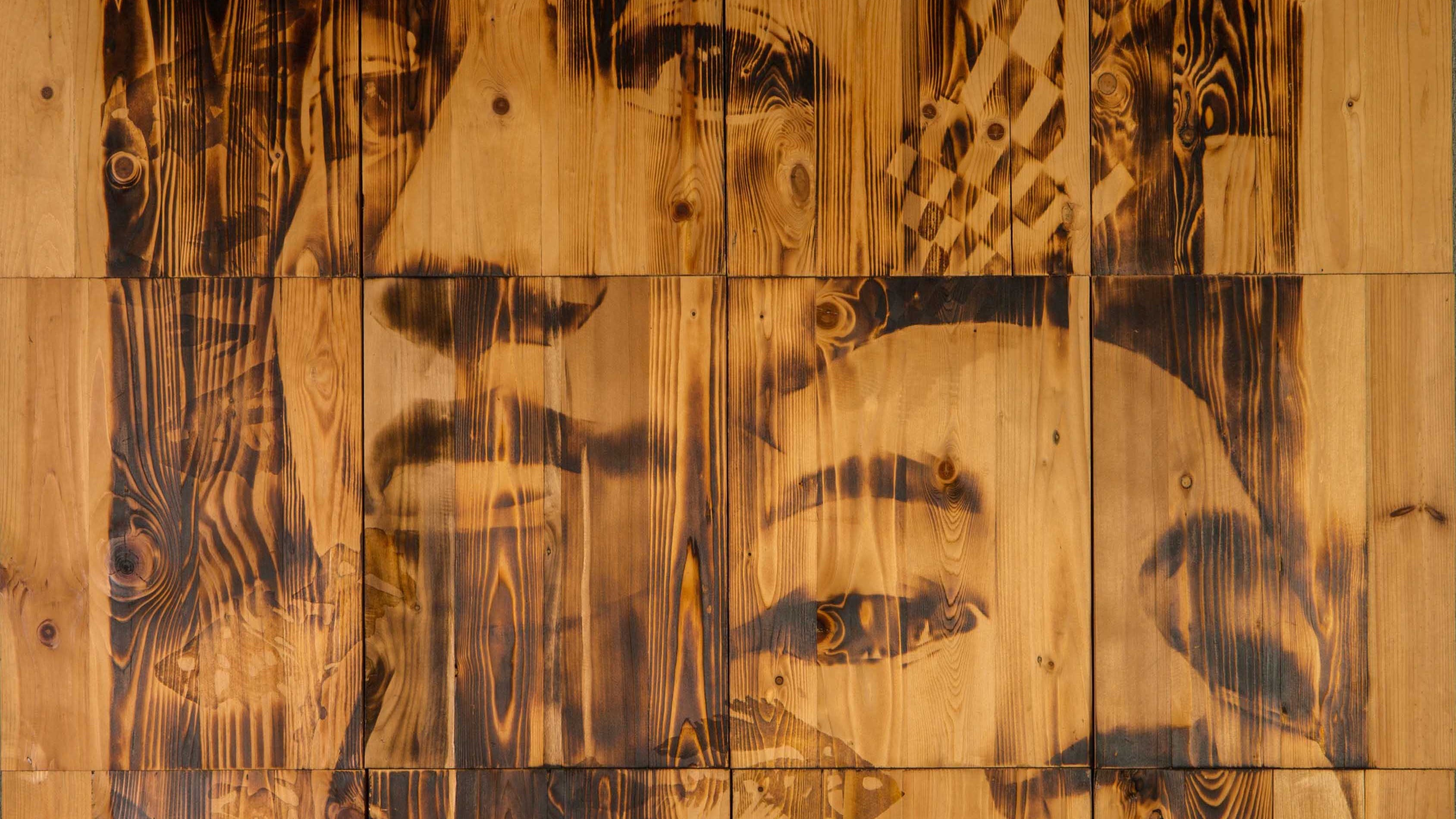 portrait etchings on wood